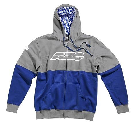 AXO FT5T0147-GB Sweatshirt Racing, Taille XL, Gris/Bleu