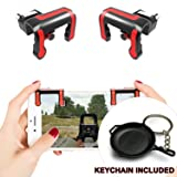 Alquar PUBG Mobile Game Controller, Fire Button L1 R1 Shoot and Aim, Metal PUBG Pan Keychain Inside [Upgraded Mechanical Trigger] PUBG/Fortnite/Knives Out/Rules of Survival (Color: MX)