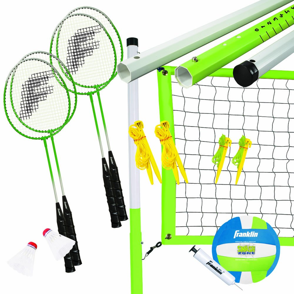 Franklin Sports Intermediate Badminton/Volleyball Set