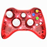 PAWHITS Wireless Xbox 360 Controller Double Motor Vibration Wireless Gamepad Gaming Joypad, Red (Color: Red)