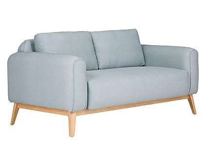 massivum Sofa Retro 163x80x93 cm Flachgewebe-Stoff blau