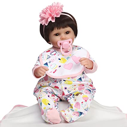 NPK Collection Reborn Baby Doll Soft Silicone 18inch 45cm bébé poupée vivante des poupées en vinyle coloré cherry blossoms collection de poupée cadeau d'anniversaire