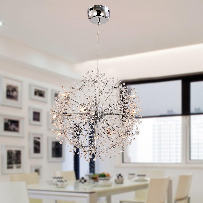 Oofay Light Einfache Und Graziose G4 15 Stucke Kristall Hangelampe
