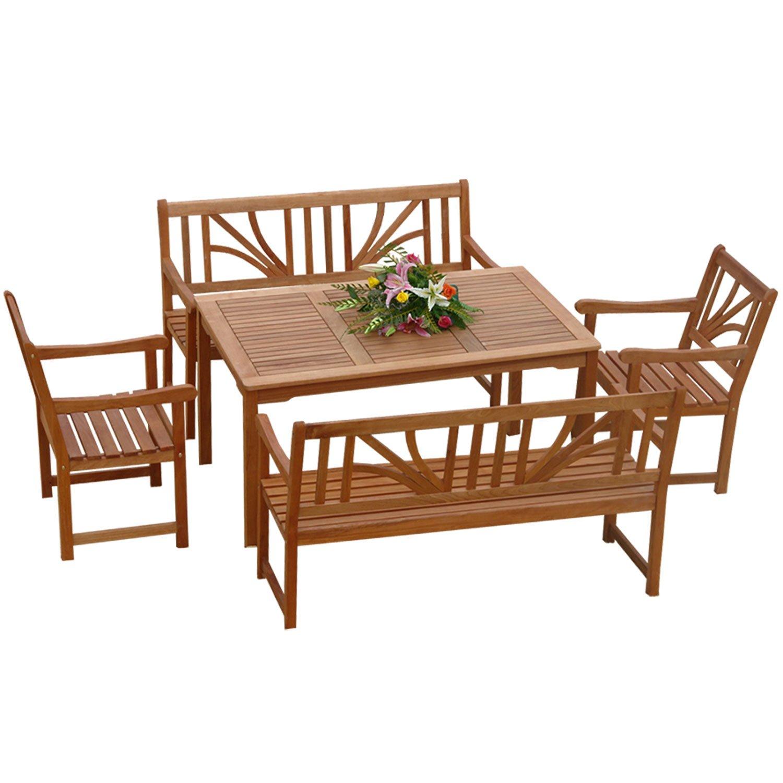Gartenmöbel Set 5-teilig Lotus – Gartenset – Serie Lotus – IND-70027-LOSE5 jetzt bestellen