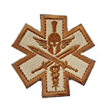 Spartan Medic Tactical EMT EMS Military Combat Army Morale Outdoor Velcro Patch-Khaki by Prohouse