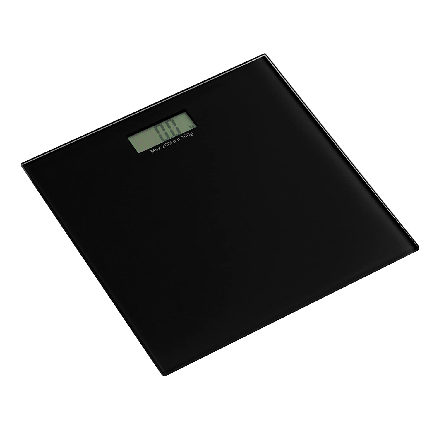 Premier Housewares Square Modern Black Tempered Glass Scale