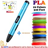 3D Pen, Professional 3D Printing Pen with OLED Display for Kids,Doodling Art Craft Making,Adults,Girls,Artists,Doodling,Teens, Printing 1.75mm PLA/ABS Filament Refills (Color: 03A Pen)