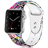 KOLEK 40mm/38mm Bands Compatible with Apple Watch, Womens Bands Compatible for iWatch Series 4/3/2/1, S/M (Color: D-Colorful Jellyfish, Tamaño: 38mm/40mm S/M)