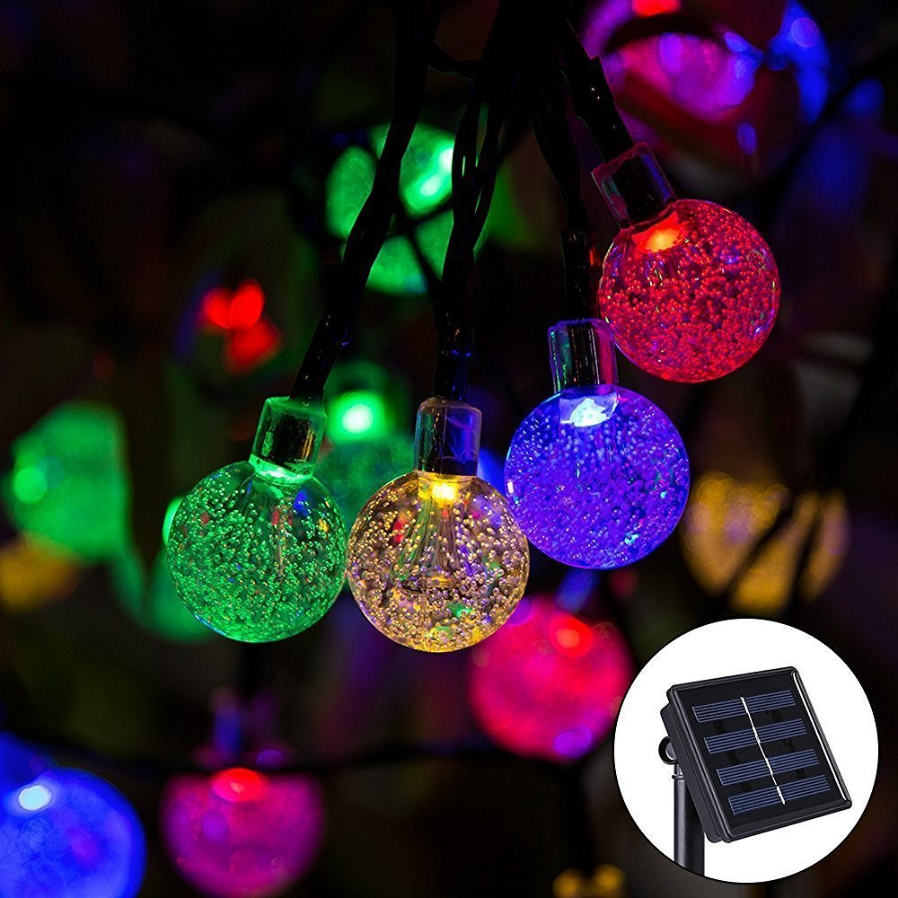 String Of Lights Do Not Work : Yongf Solar String Lights,20ft Garden 30 Led Christmas Globe Fairy Lights Crystal Ball ...