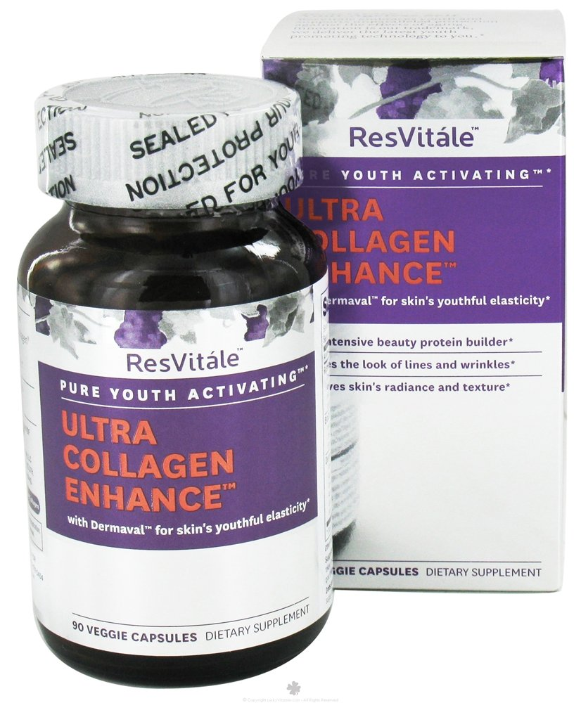 ResVitale - Ultra Collagen Enhanced - 90 Vegetarian Capsules neocell collagen 2 joint specific collagen 2400 mg 120 capsules free shipping