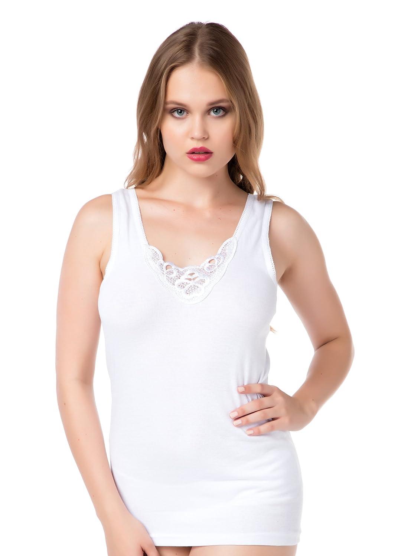 3er-Pack Damen Trägerunterhemden in Weiß von stylenmore