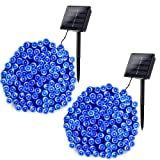 Joomer 2 Pack Solar String Lights 72ft 200 LED 8 Modes Solar Powered Christmas Lights Waterproof Decorative Fairy String Lights for Garden, Patio, Home, Wedding, Party, Christmas(Blue) (Color: Blue, Tamaño: 2 Pack)