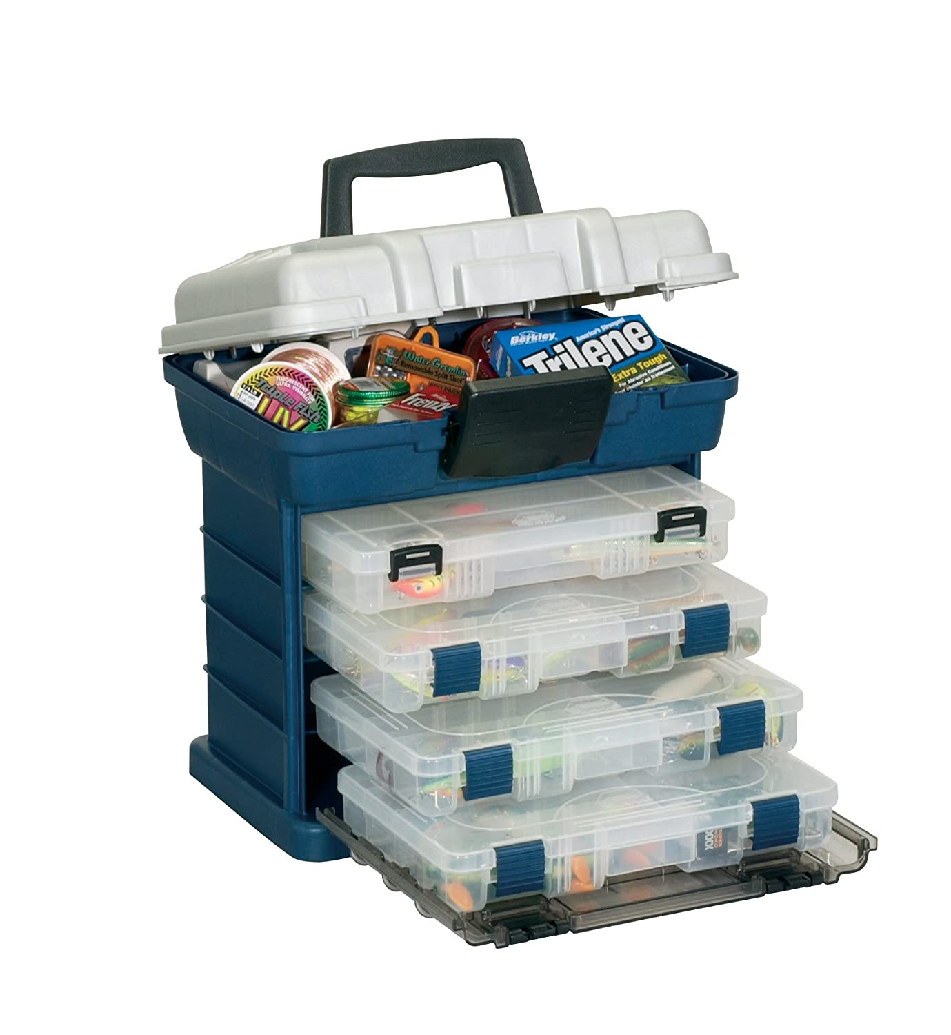 Plano 1364 4 by rack system 3650 size tackle organizer for Large tackle boxes for fishing