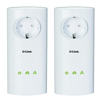 D-Link DHP-P501AV - Starter Kit PowerLine AV 500 Passthrough, Color: Blanco - Pack 2