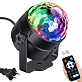 Vnina Disco Lights LED Disco Ball Party Lights Strobe Light for Parties Dance DJ Stage Lights Effects with 7 Colors Sound Activated Lamp for Xmas Halloween Kids Birthday Karaoke Home Party Decoration (Color: Disco Ball)