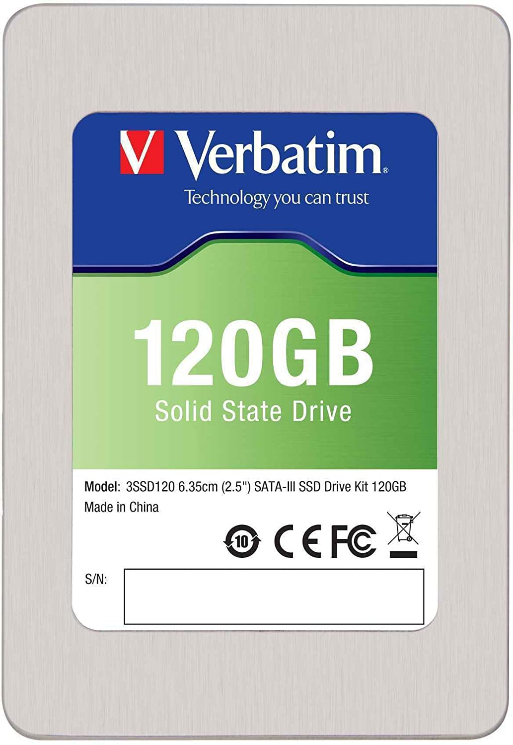 Verbatim 120 GB SATA III Internal SSD 6.0 Gb-s 2.5-Inch 47378 $93.24