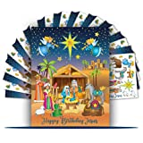 Colonel Pickles Novelties Nativity Stickers - 12 Sticker Sheet Sets - Christmas Crafts for Kids (Tamaño: Anti-Stress230)