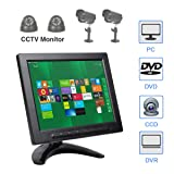 ALON 8 inch IPS CCTV Monitor with Remote Control TFT Color Video Monitor Screen Security Surveillance Monitor AV/VGA/BNC/HDMI/USB Input,Dual Speakers (Color: 8 inch monitor)