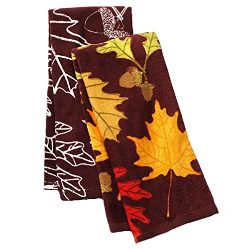Croft & Barrow® Leaves Kitchen Towel Set 2 Pack