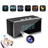 Spy Camera-WiFi Hidden Clock Camera-SILLEYE 1080p Wireless Mini Spy Nanny Camera with Motion Detection,Night Vision,3000mAh Battery,Indoor Use (Color: Black)