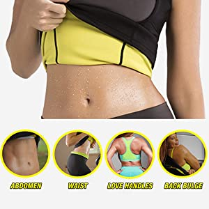 4649ed404be FOMANSH Neoprene Waist Trainer Corset Vest For Weight Loss Sauna Suits  Tummy Control Shapewear Hot Sweat Slimming ...