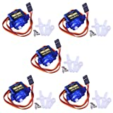 Longruner SG90 Micro Servo Motor 9G RC Robot Helicopter Airplane Boat Controls KY66 (KY66-5) (Color: KY66-5)