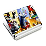 15 15.6 inch Colorful Cats Laptop Notebook Vinyl Skin Sticker Protector Cover Art Decal Fits 13