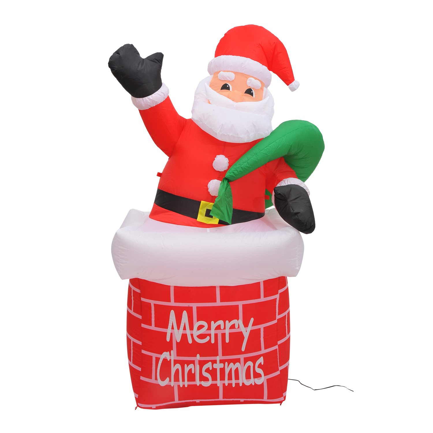 Santa claus chimney inflatables christmas wikii