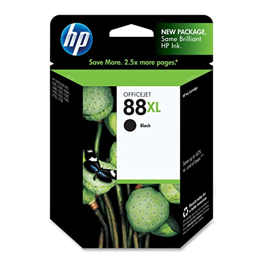 C9396AN (HP 88) Ink, 2450 Page-Yield, Black
