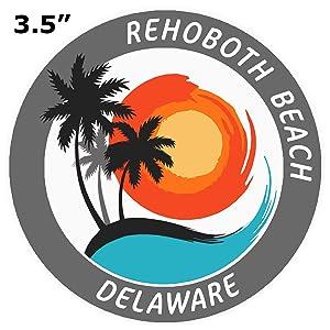 "Rehoboth Beach Delaware Sticker Travel Decal 3/"""