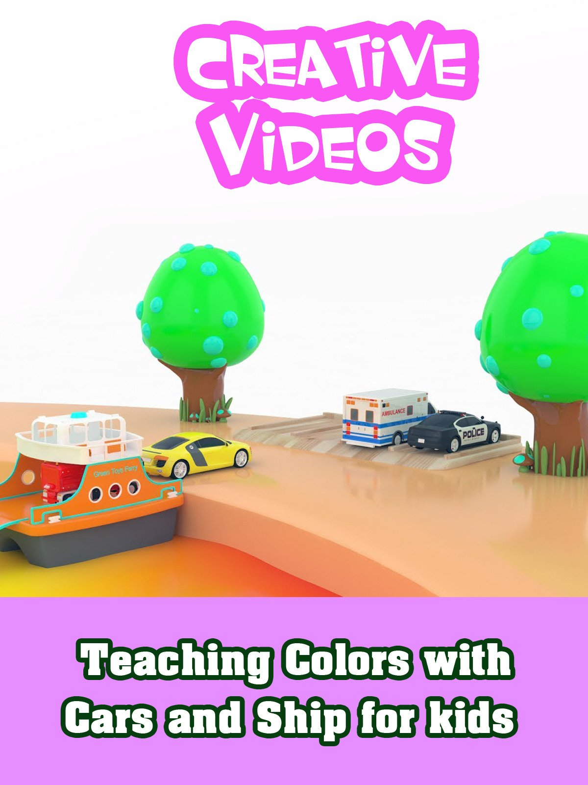 Teaching Colors with Cars and Ship for kids