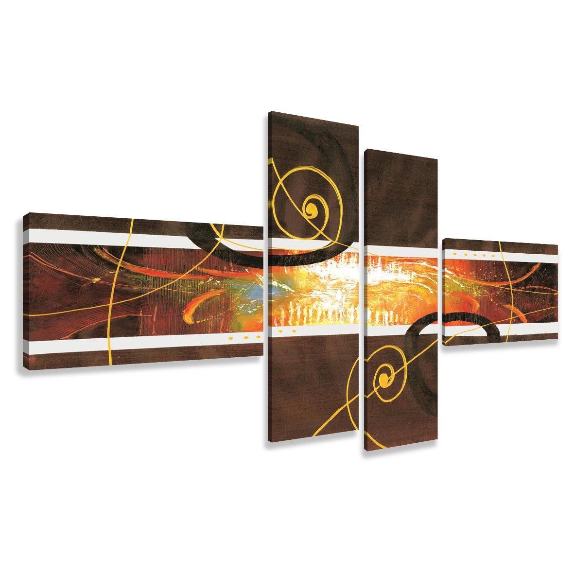 Cuadros en Lienzo abstracto 195 x 80 cm modelo Nr. 6801 XXL Las imágenes estan listas, enmarcadas en marcos de Madera auténtica. El diseño de la impresión artística como un Mural enmarcado. - Electrónica - Comentarios de clientes y más información
