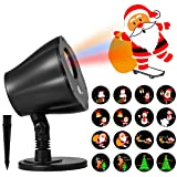 1byone Christmas Decorations Light Projector, 8in1 Auto-Shifting Images and Auto-Switchable Pattern, Outdoor/Indoor Use, IP65 Water-Resistant (Color: Outdoor/Indoor Use)