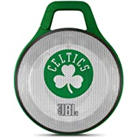JBL Clip NBA Portable Bluetooth Speaker with Integrated Carabiner (Boston Celtics)