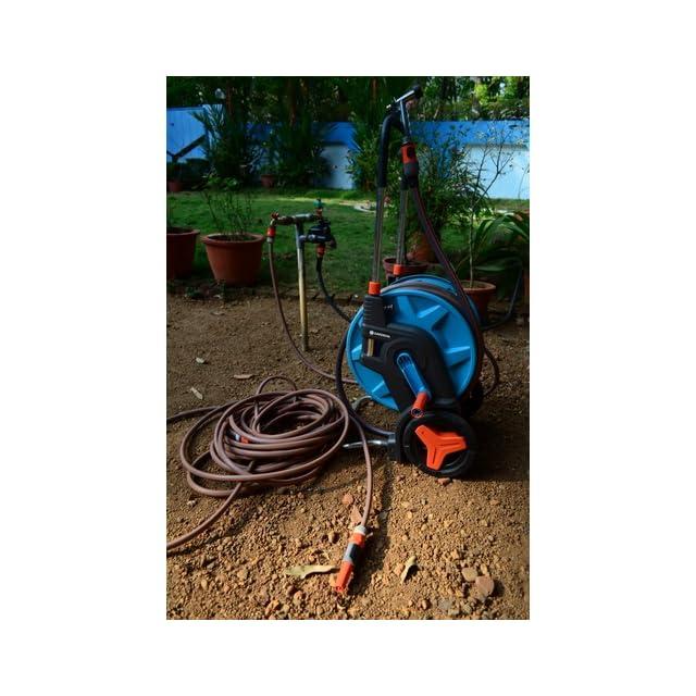 Gardena 8001 U 196 Foot by 1/2 Inch Hose Capacity Garden Hose Cart with 65 Foot Hose