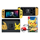 Nintendo Switch Limied Edition Pokémon: Let's Go, Pikachu! 32GB Console, Joy-Con, Full Game Pre-Installed and Poké Ball Plus