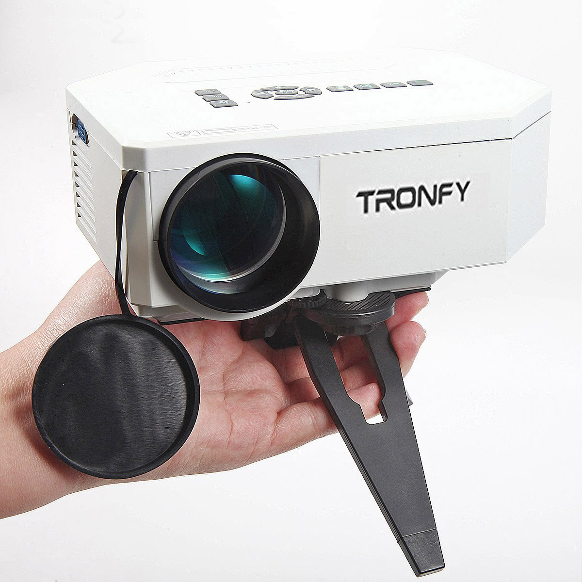 Tronfy® Mini Home Movie LCD Image Multimedia LED Projector Video Game PC Laptop with AV/VGA/USB/SD/HDMI Input