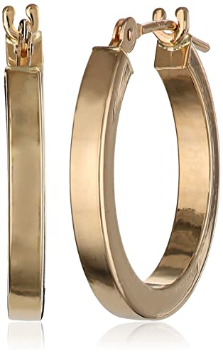 Duragold-14k-Yellow-Gold-Square-Tube-Hoop-Earrings