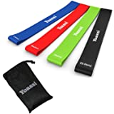 Resistance Bands Set Exercise Bands Thicker Workout Bands Stretch Bands 12 inch Premium Workout Bands Kit for Legs Butt Glutes Yoga Fitness Physical Therapy Home Equipment Training for Women Men (Color: 4 Resistance Bands, Tamaño: 27-44 inch)
