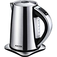 Aicok Stainless Steel Cordless Electric Water Kettle