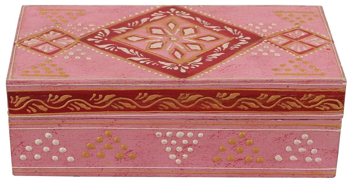 Wood Pink Jewelry Box