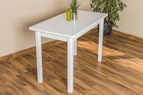 Esszimmertisch Esstisch 60x110 cm, Farbe: Weiß