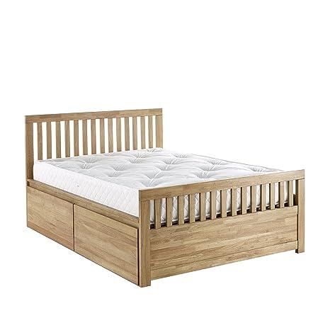 IFC Elena 4-Drawer Bed, Wood, Honey, Double, 201 x 146 x 102 cm
