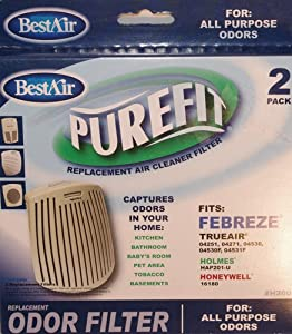 RPS Products Best Air Purefit Replacement Filter Air Cleaner 2 Pack for Febreeze Trueair Holmes Honeywell at Sears.com