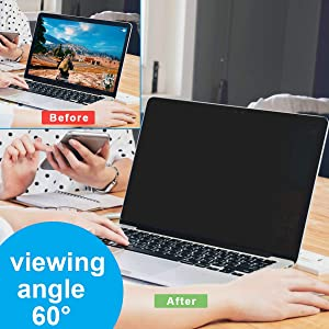 MacBook Air 13 inch Privacy Screen,Webcam Cover-Magnetic Privacy Screen Protector Compatible MacBook air 13(Model A1369 and A1466) MacBook Privacy Filter/Monitor/Anti-Spy (Color: silver, Tamaño: 13-inch MacBook air (Model A1369 and A1466))