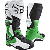 Fox Racing Comp 8 SE Men's Off-Road Motorcycle Boots - White/Black/Green / Size 9 (Color: White/Black/Green, Tamaño: 9)