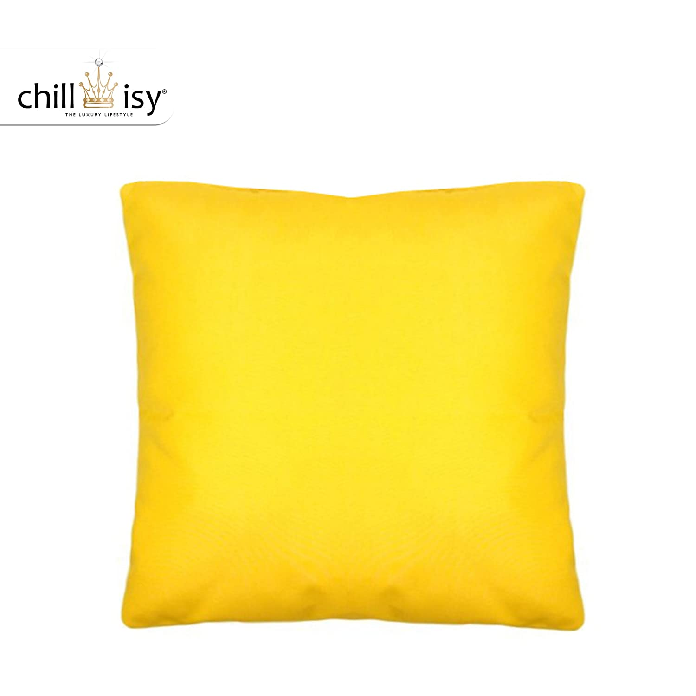 Gelbes Outdoor Garten Kissen 40x40 cm - chillisy® SUMMERTIME: gelb, farbecht, wasserabweisend, wetterfest