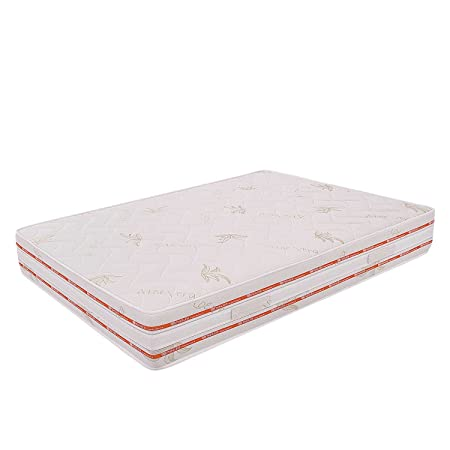 Matratze Französisch Maßnahme multionda abnehmbarer 140x 200Höhe 25cm. Aloe Vera Beschichtung Muster Federn