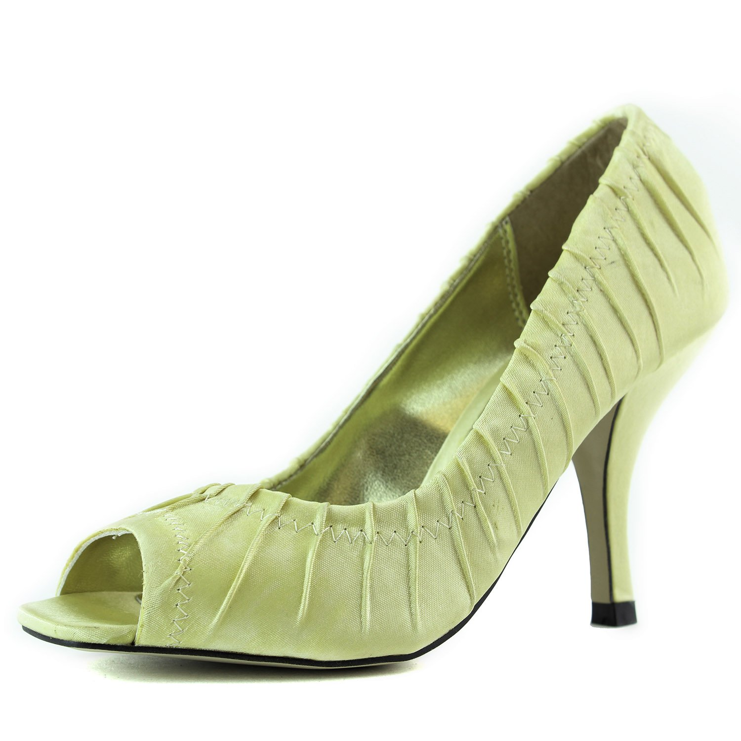Women's Karolyn Rocky-3 Satin Peep Toe Pumps Fashion Shoes
