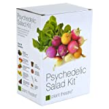 Plant Theatre Psychedelic Salad Kit - 5 Fantastic Salad Vegetables to Grow (Color: Psychedelic Salad)